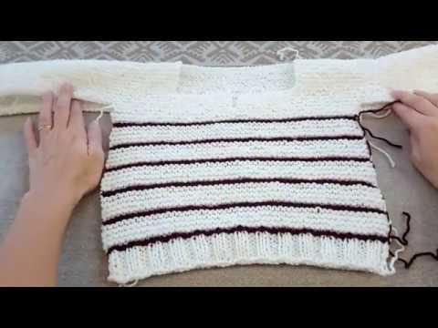 ccd1690bd9a Pull enfant 2 ans au tricot facile à faire - YouTube
