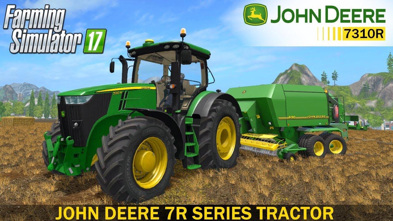 Fastest Tractor Farming : Farming simulator john deere r series tractor youtube