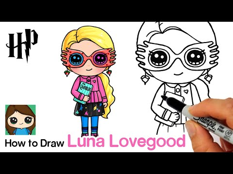 How To Draw Luna Lovegood Harry Potter Youtube