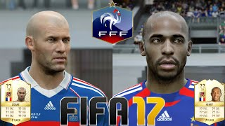 FIFA 17 - New Legends (with Game Faces) - France - Zidane, Henry, Platini & more!