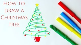 How to draw the easiest Christmas tree ever!