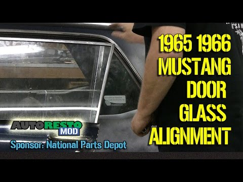 How to 1965 1966 mustang coupe hardtop window alignment for 1965 mustang window adjustment