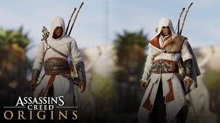 Assassin's Creed Origins - How to Unlock Altair and Ezio Outfits (ALL LEGACY OUTFITS)