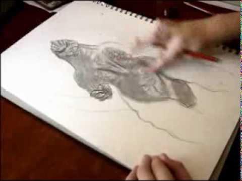 Godzilla Speed drawing by TheSciFiGuy. Gareth Edwards. Godzilla 1994. Speed drawing. TOHO INDUSTRIES