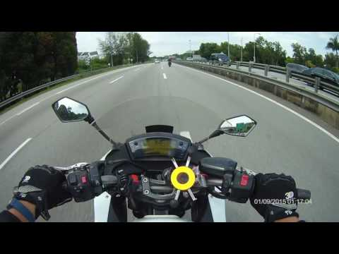 KAWASAKI ER6F VS APRILIA SHIVER TOP SPEED
