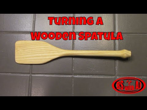 Turning A Wooden Spatula