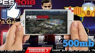 (500mb) download PES 2018 soccer gamr high compressed version..  Soccer game.  High graphic..