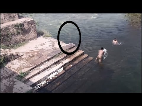 Real Ghost caught on Camera jumping in POND!! Ghost caught near ...