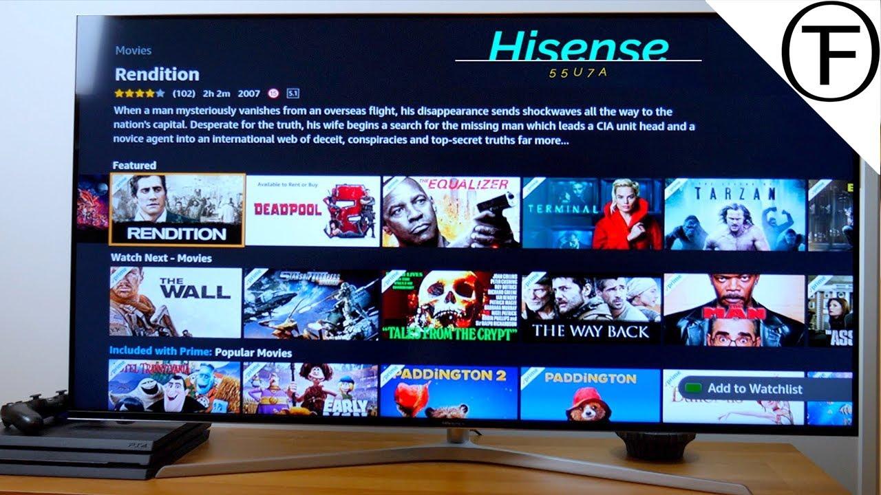 Hisense 55U7A ULED HDR 4K Ultra Smart TV Set-Up