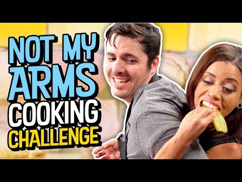 NOT MY ARMS COOKING CHALLENGE!