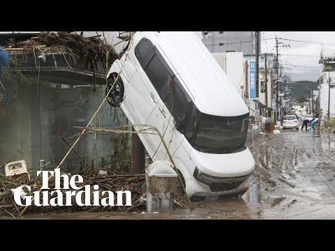 Flooding and landslides in Japan leaves scores dead on Kyushu