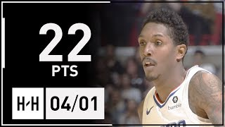 Lou Williams Full Highlights Spurs vs Clippers (2018.04.03) - 22 Pts! CLUTCH!