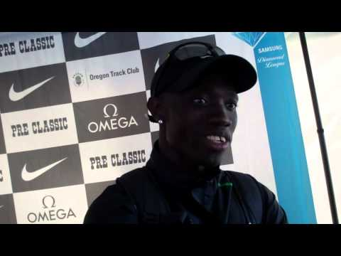 Lopez Lomong Talks About The Bowerman Mile, the Olympic Trials and His Journey