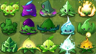 All MINT Plants Power-Up! in Plants vs Zombies 2