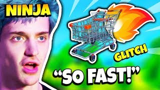 NINJA SHOWS SHOPPING CART SPEED GLITCH | Fortnite Daily Funny Moments Ep.116