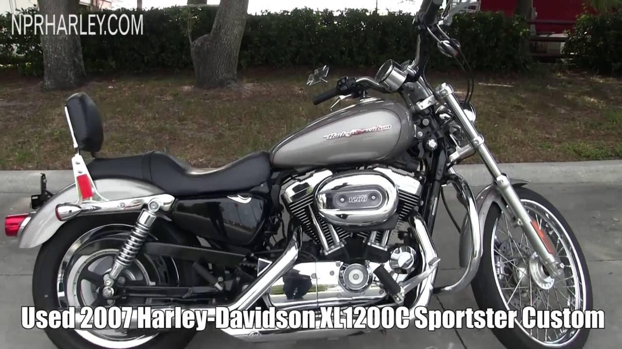 2007 Harley Davidson Xl1200c Sportster 1200 Custom Youtube