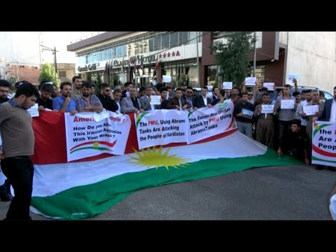 مظاهرة أمام القنصلية الأمريكية في أربيل رفضا لتطورات كركوك  - نشر قبل 3 ساعة