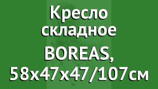 Кресло складное BOREAS, 58х47х47/107см (Trek Planet) обзор 70640 производитель Girvas (Китай)