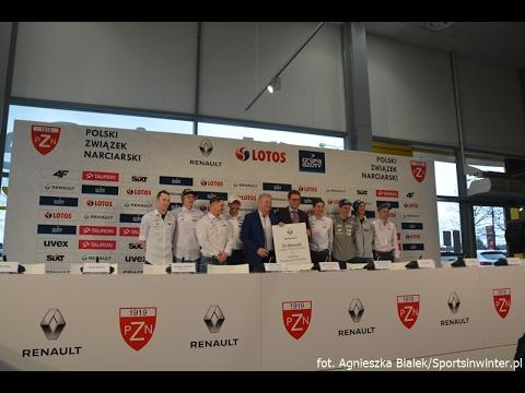 Konferencja prasowa przed MŚ Lahti 2017 polskich skoczków narciarskich