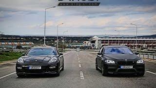 BMW M5 Competition Edition vs Porsche Panamera GTS Drag Race