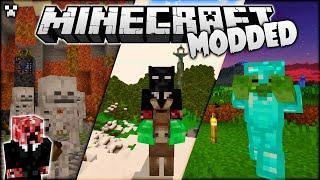 CRAZY Mini Bosses in Minecraft Modded Survival!