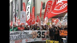 2.000 empleados públicos de CyL en huelga por las 35 horas