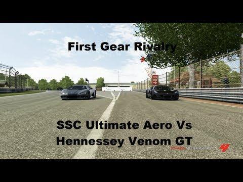 First Gear Rivalry SSC Ultimate Aero Vs Hennessey Venom GT (Forza 4)