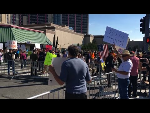 Pro, Anti-Trump Protesters Get Separated in Reno