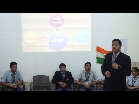 Class X Students PresentingHindi Lesson 'Sanskriti' by Bhadant Anand Kaushalyayan