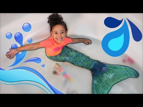 Mermaid Swimming in Real Life Pretend Play | FamousTubeKIDS