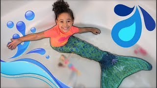 Mermaid Swimming in Real Life Pretend Play  FamousTubeKIDS