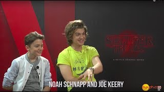 "MYXclusive Interview With NOAH SCHNAPP And JOE KEERY Of ""Stranger Things""!"