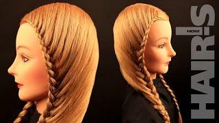 Плетем две косы по правой линии роста волос - видеоурок (мастер-класс) Hair's How