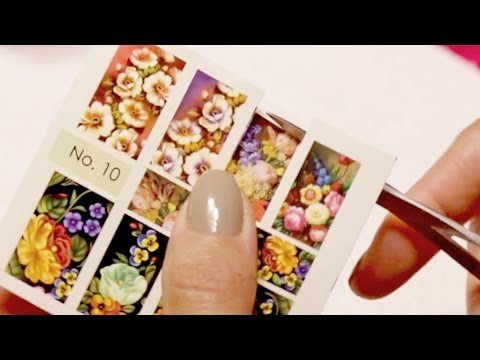 How To Use Moyra Nail Art Water Decals Youtube