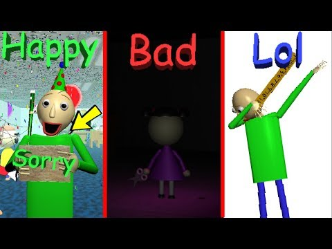 BALDI THREW ME A SURPRISE PARTY WHEN I HAD ALL THE WRONG ANSWERS?! [ALL ENDINGS] | Baldi's Basics