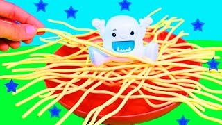 Yeti In My Spaghetti Game Playing and NEW TOY Review FUN Kids Surprise Egg Chocolate Candy Cars