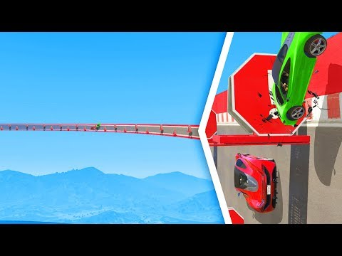 Attempting The WORLD'S LONGEST Obstacle Wall! - GTA 5 Funny Moments