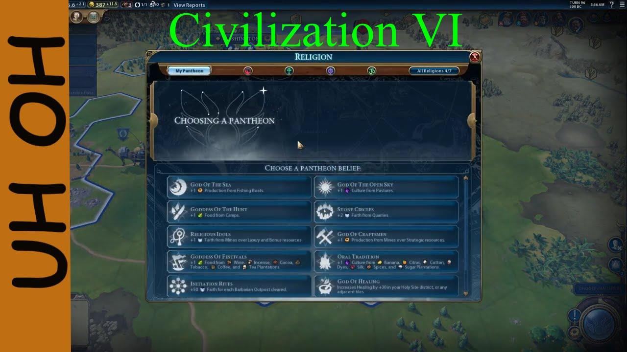 Choosing a Pantheon | Civilization VI | Part VI