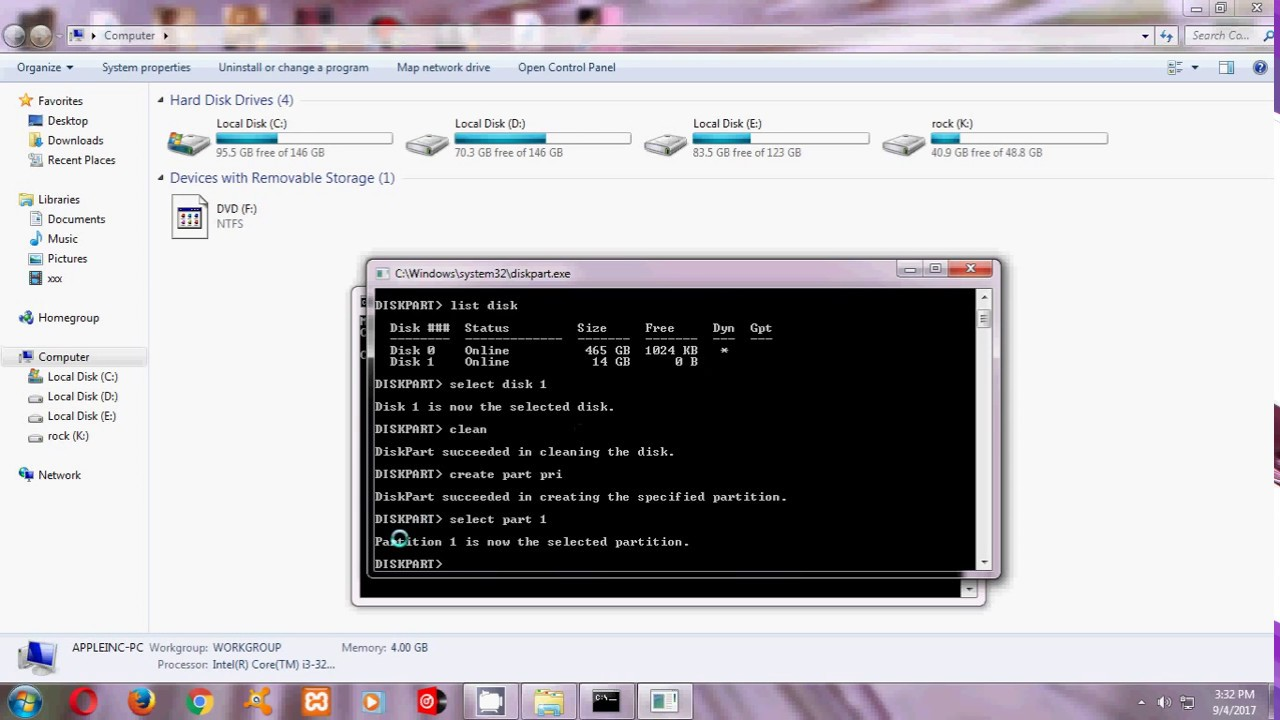 how to make bootable pendrive for windows 8.1 using cmd