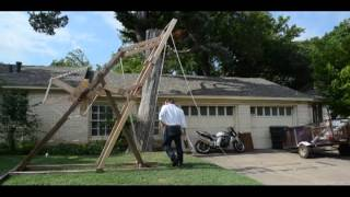 David Harrel's 12 Foot Tall Trebuchet Launcher
