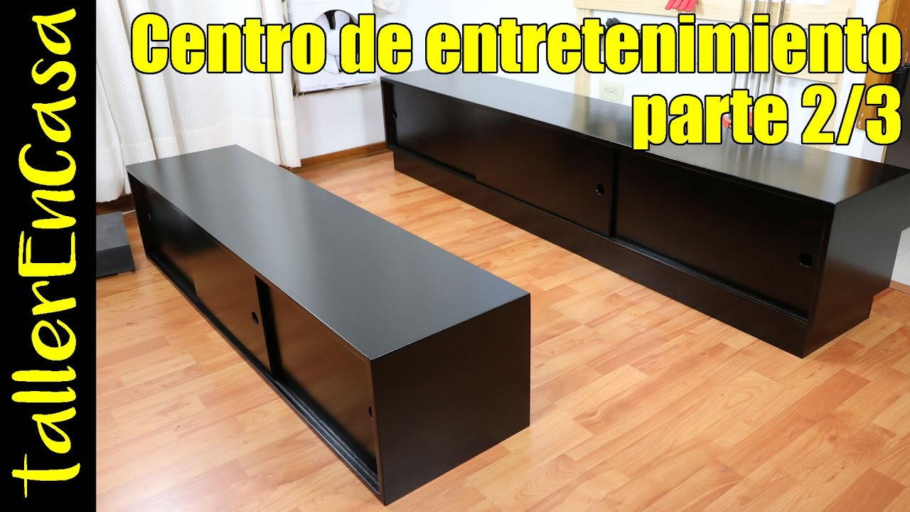 Mueble para tv hecho en casa 2 3 ensamble youtube for Muebles para tv segunda mano