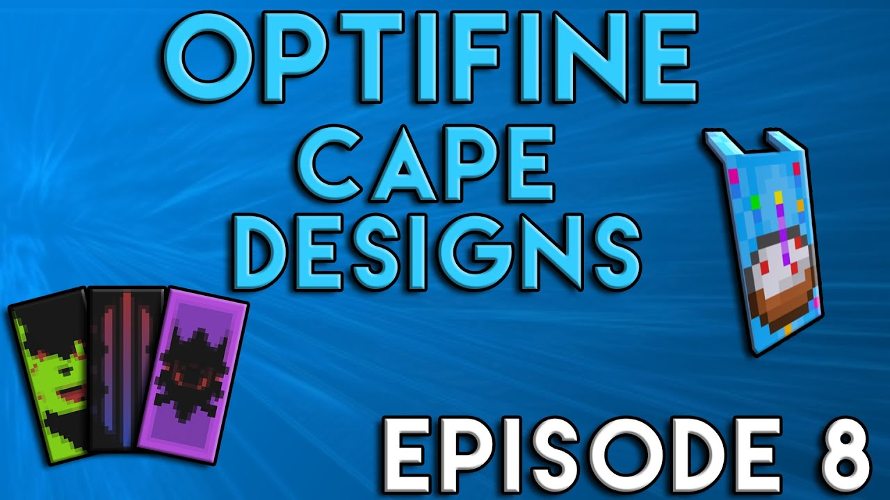 6 Cool OptiFine Cape Designs | Episode 2 | Food And Drink Edition