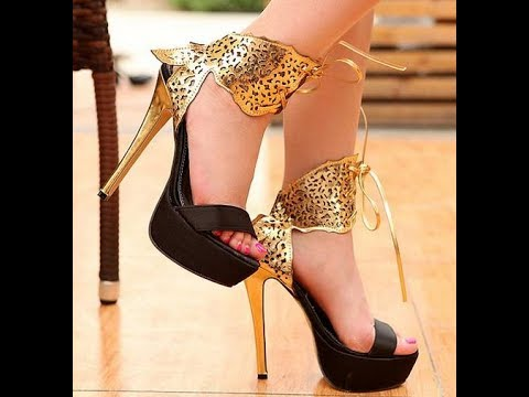 Latest Designs Of Heels Shoes For Women Girls 2017 Youtube