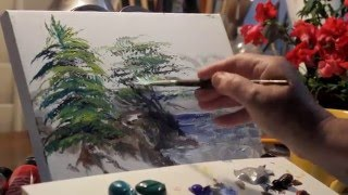 How to Paint Trees-Four Kinds:Pine,Cypress,Palm,Birch-w/Marge KInney