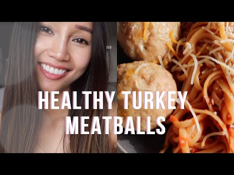 COOK EASY & HEALTHY TURKEY MEATBALLS WITH ME | Faye Miah