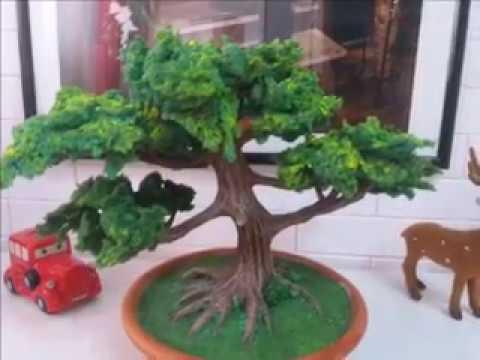 Bonsai artificiale fai da te youtube