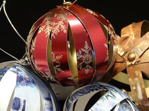 Recycled Christmas Card Ornaments- with yoyomax12