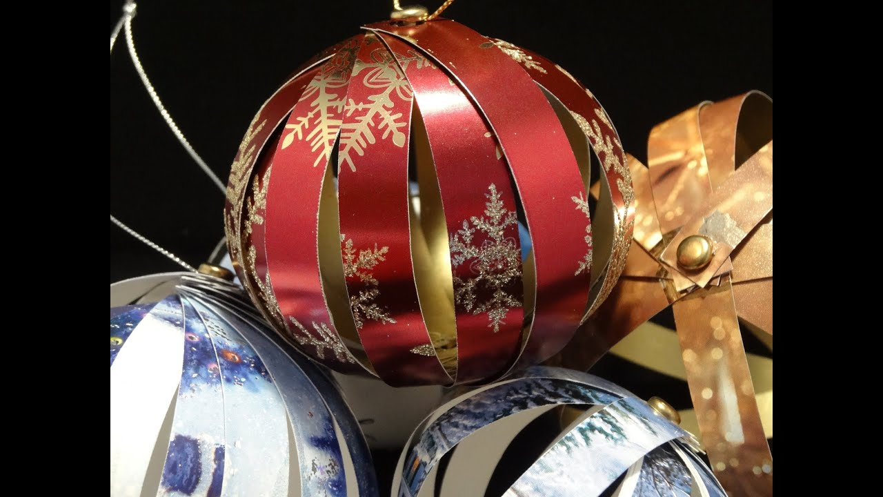 recycled christmas card ornaments with yoyomax12 youtube - Old Christmas Decorations
