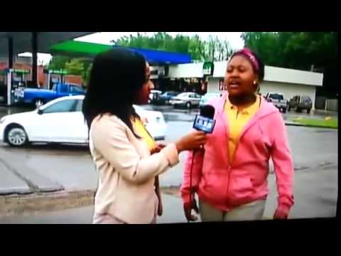 Girl Pees Herself During Live TV Interview - Funny Videos