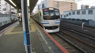 総武快速線 快速久里浜行き E217系Y−144編成 船橋駅にて